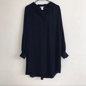 H&M black dress blouse size 10